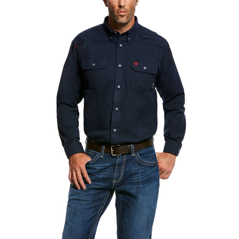 Ariat® Men's FR Featherlight Navy Blue Work Shirt 10022899