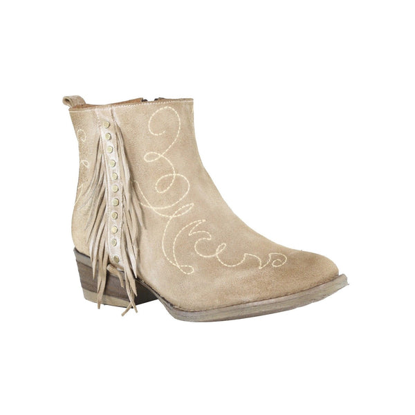 Circle G by Corral Ladies Bone Fringe and Stud Ankle Boot Q5008 - Wild West Boot Store