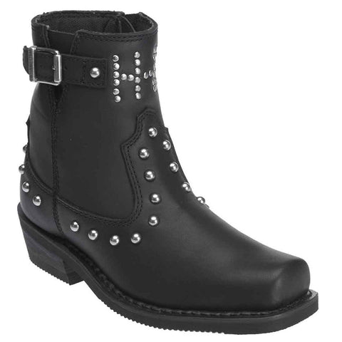 Harley Davidson Ladies Black Deanne Boot D87079 - Wild West Boot Store