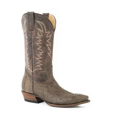 Stetson Men's Tan Python Belly Boots 12-020-6118-4029