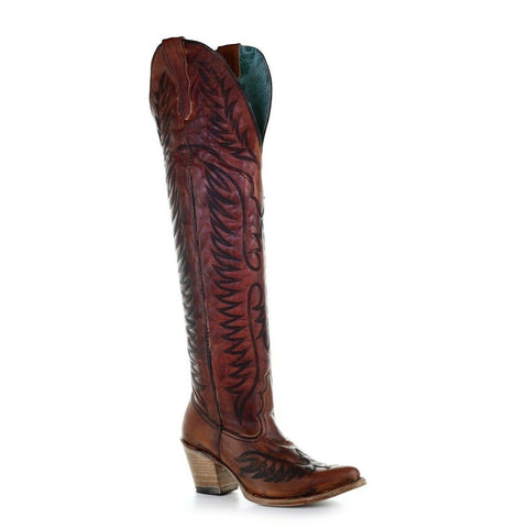 Corral Ladies Cognac Embroidery Tall Top Boots E1507
