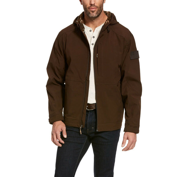 Ariat® Men's Vernon 2.0 Brown CC Flag Hooded Tactical Jacket 10028328
