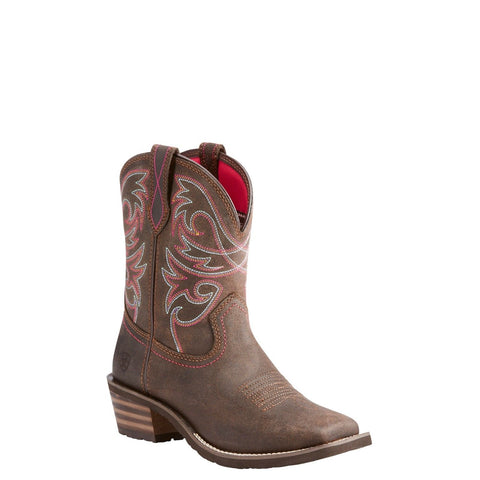 Ariat® Ladies Riata II Dark Toffee Short Square Toe Boots 10023110