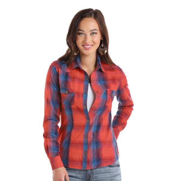 Panhandle Ladies Americano Plaid Shirts 22S1738
