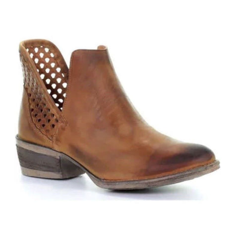 Circle G by Corral Ladies Brown Cutout Shortie Boot Q5027 - Wild West Boot Store