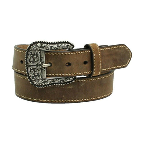 Ariat Ladies Accent Distressed Brown Leather Belt A1523402
