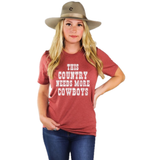 Ali-Dee Ladies This Country Needs More Cowboys Graphic Tee