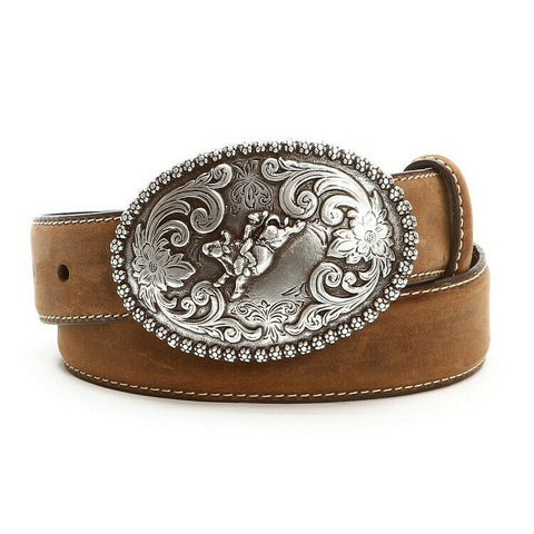 Nocona Children's Brown Bucking Bull Buckle Belt N4421844