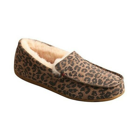 Twisted X Ladies Leopard Fur Lined Slippers WSR0002