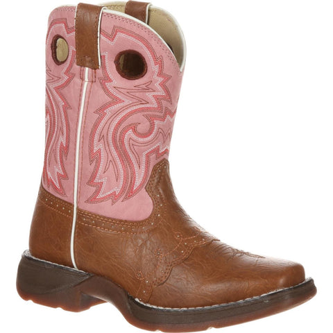 Durango Children's Lacey Pink & Tan Saddle Vamp Western Boots BT287 - Wild West Boot Store