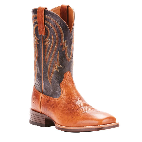 Ariat® Men's Plano Gingersnap Army Blue Square Toe Boots 10025166 - Wild West Boot Store