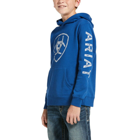 Ariat® Children's Classic Screen Print Logo Cobalt Hoodie 10033033