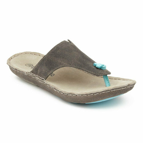 Tamarindo® Ladies Beachcomber Grey & Blue Flip Flop Sandals WTDS002