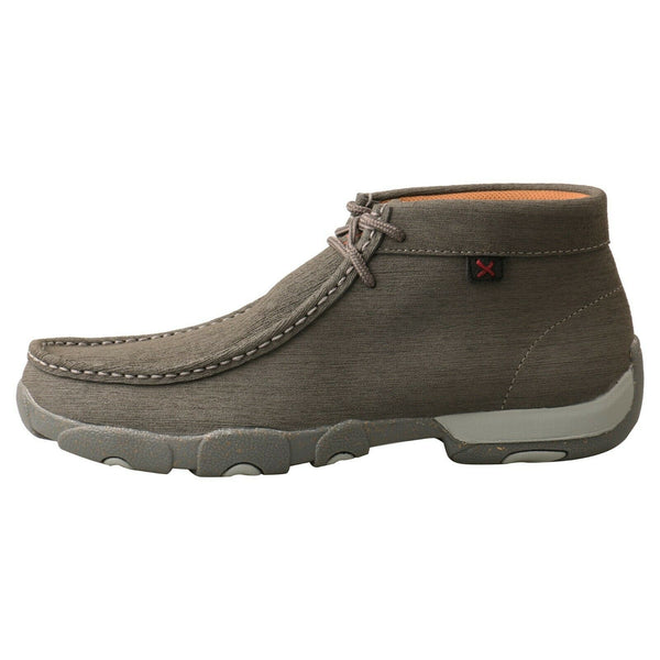 Twisted X Men's Casual Dark Grey Chukka Driving Moc Shoes MDM0086
