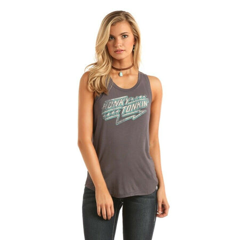 "Rock & Roll Cowgirl ""Honky Tonk"" Graphic Tank 49-1616"