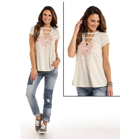 Panhandle Ladies Floral Graphic Shirt L9T5859
