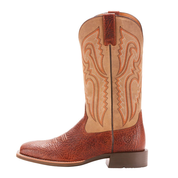 Ariat® Men's Heritage Latigo Cognac Bullhide Square Toe Boots 10025094 - Wild West Boot Store