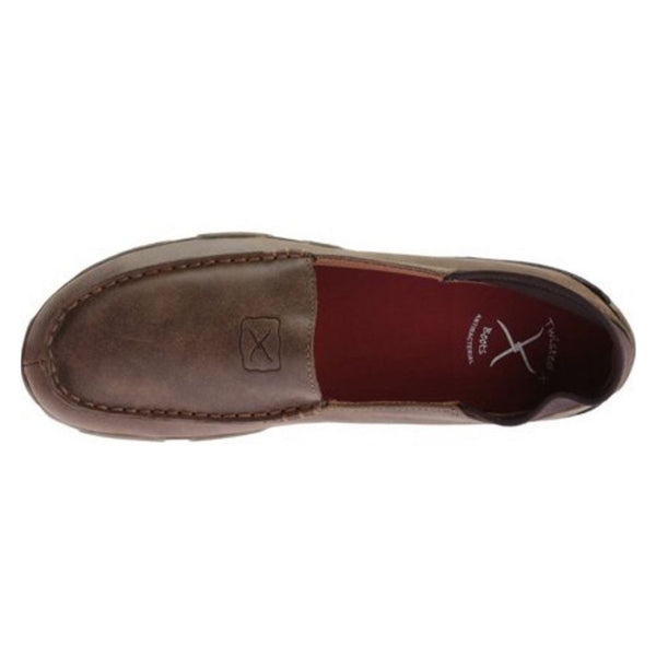 Twisted X Men's Brown Bomber Slip-On Driving Mocs MDM0039 - Wild West Boot Store