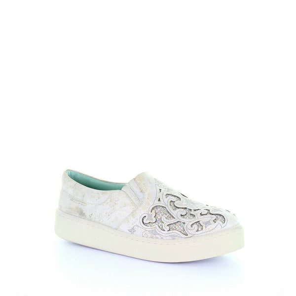 Corral Ladies White Inlay & Embroidery Sneakers E1562