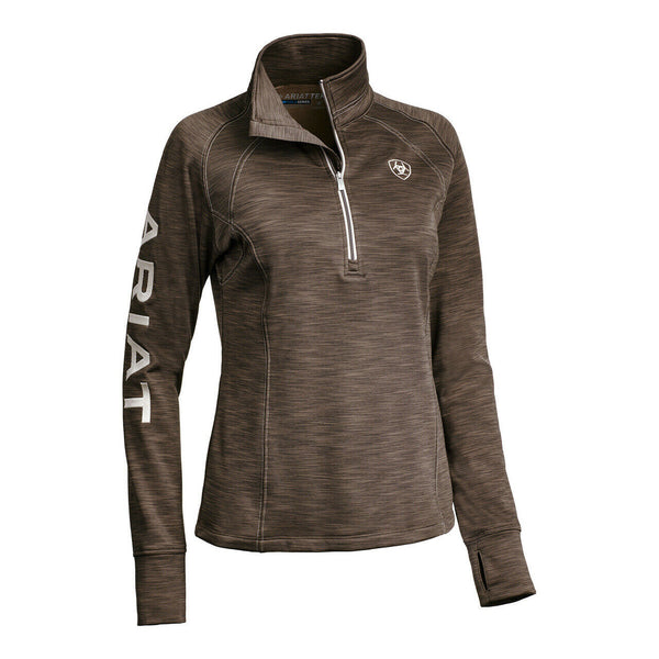 Ariat® Ladies TEK Team Barnyard Bark 1/2 Zip Sweatshirt 10032707