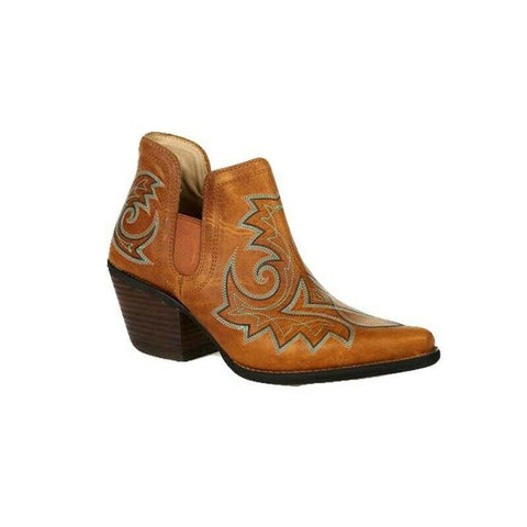 Durango Ladies Crush Golden Brown Western Booties DRD0401