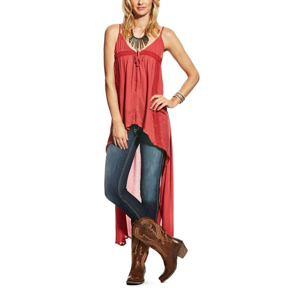 Ariat® Ladies Samantha Tie Tank Brandy Apple 10022841 - Wild West Boot Store