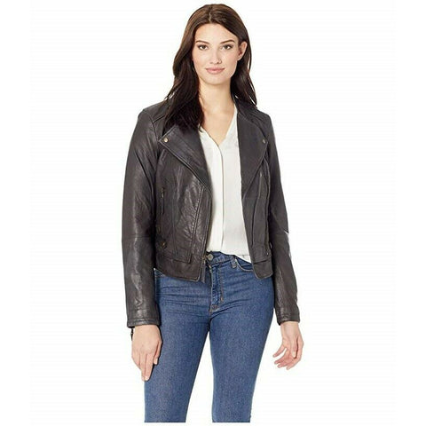 Stetson Ladies Black Leather Moto Jacket 11-098-0539-6667