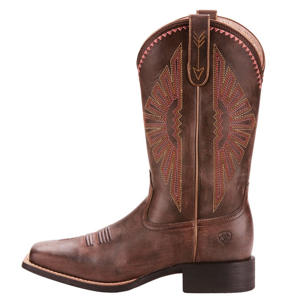 Ariat® Ladies Round Up Rio Naturally Distressed Brown Boots 10025038 - Wild West Boot Store