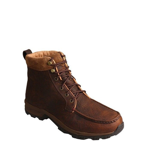 Twisted X Men's Hiker Dark Brown Waterproof Lace-Up Boots MHKW004