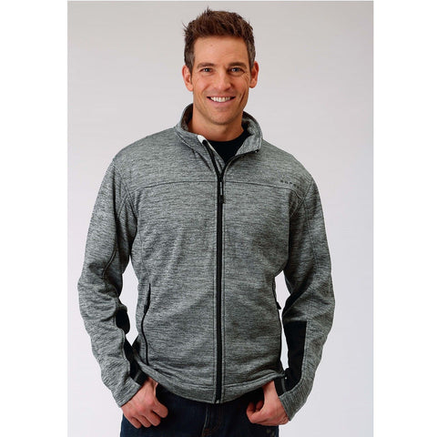 Roper Men's Grey Bonded Fleece Front Zip Jacket 03-097-0692-0642