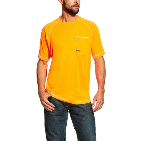 Ariat® Men's Rebar Sunstopper Orange Short Sleeve Work Shirt 10025407