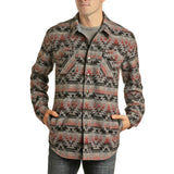 Powder River Outfitters Men's Coral Jacquard Aztec Jacket 92-6731-95