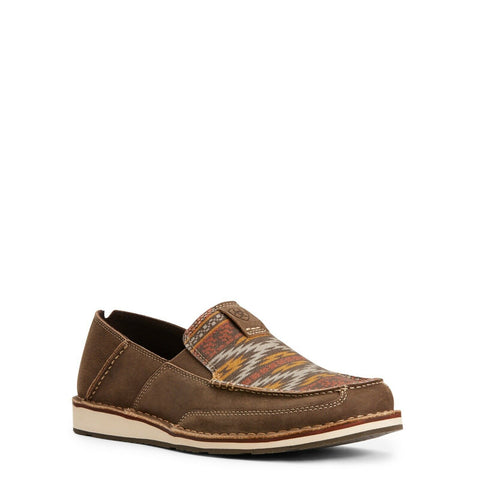Ariat® Men's Cruiser Terrace Brown Cortez Aztec Slip-On Shoes 10027395