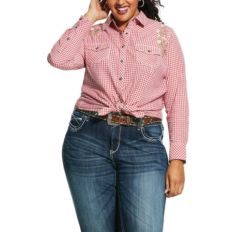 Ariat® Ladies Hibiscus REAL Authentic Snap Shirt 10025922