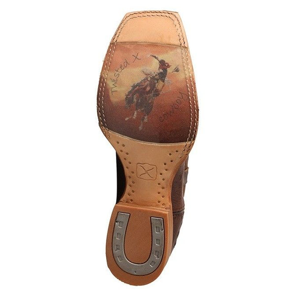 Twisted X Men's Rancher Tobacco Smooth Ostrich Cowboy Boots MRAL014 - Wild West Boot Store