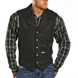 Powder River Outfitters Men's Black Wool Vest 98-1176-01