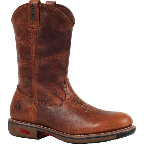 Rocky Ride Men's Brown Steel Toe Waterproof Western Boots FQ0006181 - Wild West Boot Store
