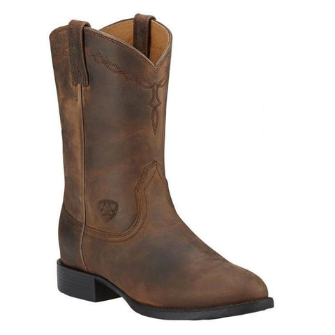 Ariat® Ladies Heritage Roper Distressed Brown Boot 10000797 - Wild West Boot Store - 1