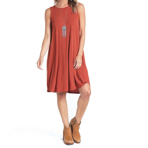 Panhandle Ladies Copper Knit Swing Dress L7D4334-91