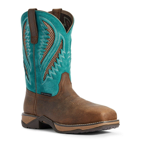 Ariat® Ladies VentTEK™ Turquoise Composite Toe Work Boots 10031663