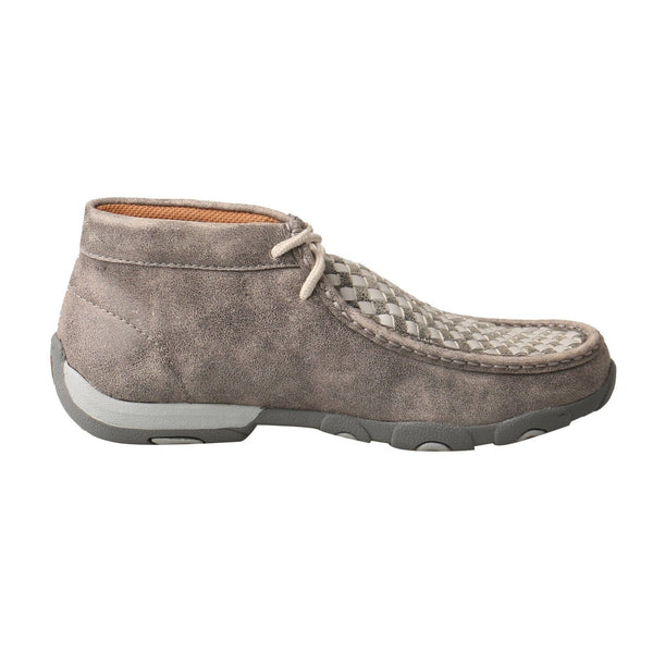 Twisted X Ladies Gray Driving Mocs WDM0108