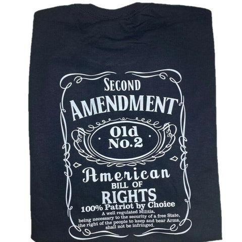 "2nd Amendment Shirts ""Old #2"" Black Short Sleeve T-Shirt 90022"