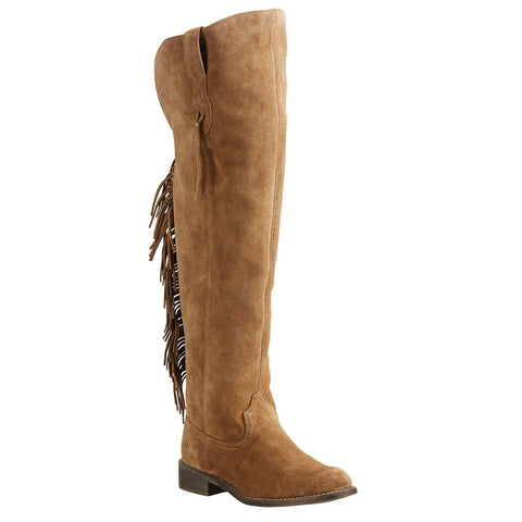 Ariat® Ladies Farrah Fringe Dirty Tan Suede Over Knee Boots 10021588
