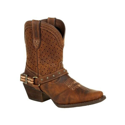 Durango Ladies Crush™ Brown Ventilated Shortie Boot DRD0375