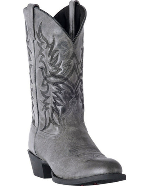 Laredo Men's Harding Grey Waxy Leather Boots 68457