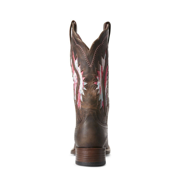 Ariat® Ladies Solana VentTEK French Toast Brown & Pink Boots 10027382 - Wild West Boot Store