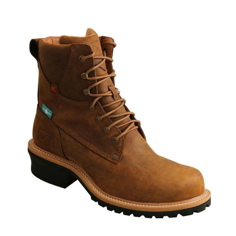 Twisted X Men's Brown Composite Toe Logger Boots MLGCW03