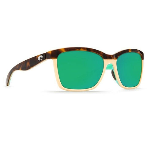 Costa Anaa Cream & Mint with Green Plastic Lens Sunglasses ANA 105 OGMP