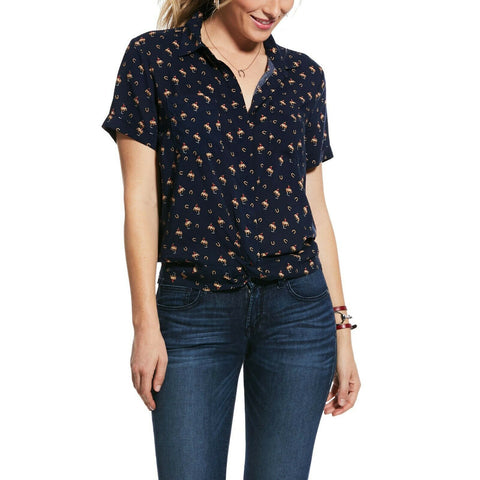 Ariat® Ladies Maverick Short Sleeve Button Up Shirt 10032025