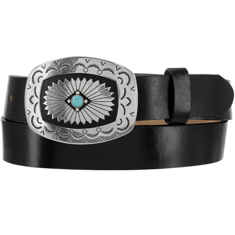 Tony Lama Ladies Black The Santa Rosa Belt C51283